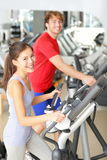 Gym people in fitness center Royalty Free Stock Images