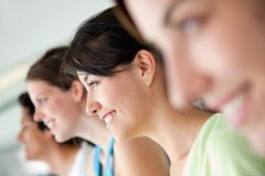 Gym people smiling Royalty Free Stock Photography