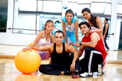 Gym people smiling Royalty Free Stock Image