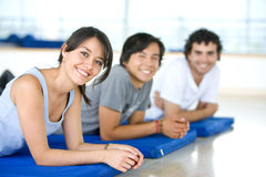 Gym people smiling Royalty Free Stock Photo