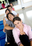 Gym people smiling Royalty Free Stock Photos