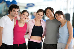 Gym people smiling Stock Photos