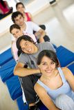 Gym people smiling Stock Photography