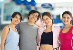 Gym people smiling Royalty Free Stock Images
