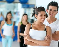 Gym people smiling Stock Photo