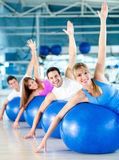 Gym people working out Stock Photo