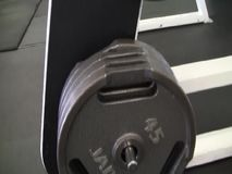 Gym Plates & Weights Footage stock video