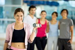 Gym portrait Royalty Free Stock Image