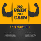Gym poster with a quote Stock Images