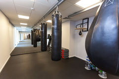 Gym for practicing kickboxing in Falcone fitness center. Belarus Royalty Free Stock Photos