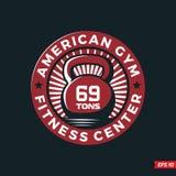 Gym profissional da aptidão do emblema do logotipo do vetor moderno Fotos de Stock Royalty Free