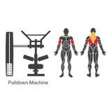 Gym pulldown machine Royalty Free Stock Photos