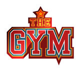 The Gym. Red Gym Sign with the star Stock Photos