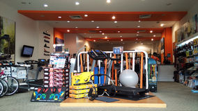 Gym room exercise equipments Royalty Free Stock Photography