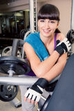 Gym room girl Royalty Free Stock Images