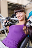 Gym room girl Stock Photo