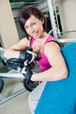 Gym room girl Stock Photography