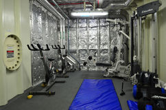 Gym room on a naval ship Royalty Free Stock Photography