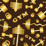 Gym. Seamless vector pattern. Stock Photos