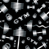 Gym. Seamless vector pattern. Royalty Free Stock Photography