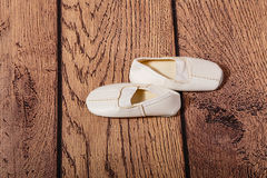 Gym shoes for children. Ballet position. Royalty Free Stock Photography