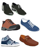 Gym-shoes. Colored vector shoes and boots Royalty Free Stock Photo