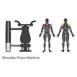 Gym shoulder press machine Royalty Free Stock Photo