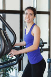 Gym smiling woman workout Stock Photography