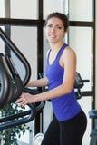 Gym smiling woman workout Royalty Free Stock Photos