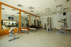 Gym with special equipment, empty, horizontal Stock Photos