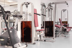 Gym with special equipment, empty Royalty Free Stock Photo