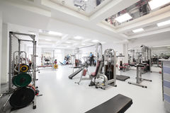 Gym with special equipment, empty Royalty Free Stock Photos