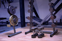 Gym or a sport club in details Stock Photo