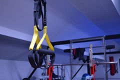 Gym or a sport club in details. Blue Stock Photos