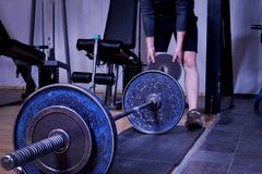 Gym or a sport club in details Royalty Free Stock Images