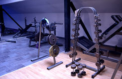 Gym or a sport club in details Royalty Free Stock Photo