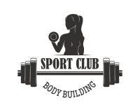 Gym sport club fitness emblem vector illustration. Royalty Free Stock Photography