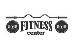Gym sport club fitness emblem vector illustration. Stock Image