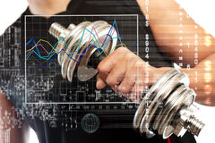 Gym and sport concept. Sport and biometric studies.Technology and healthy science Stock Photography
