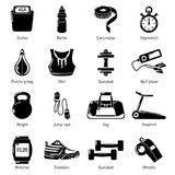 Gym sport icons set, simple style. Gym sport icons set. Simple illustration of 16 gym sport vector icons for web vector illustration