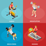 Gym Sport Isometric Concept Royalty Free Stock Photo