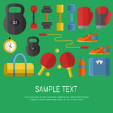 Gym sports equipment banner. Stock Images