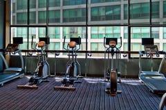 Gym a stationary bike Stock Image
