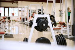 Gym and stationary equipment Royalty Free Stock Photos