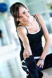 Gym stretches Royalty Free Stock Photography