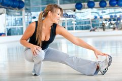 Gym stretches Stock Images