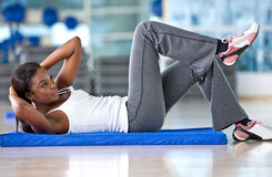 Gym stretches Stock Photography