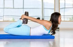 Gym stretches Royalty Free Stock Photos
