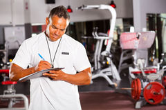 Gym Supervisor Stock Photography