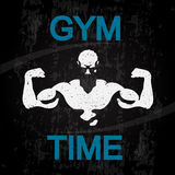 Gym time banner vector Stock Images